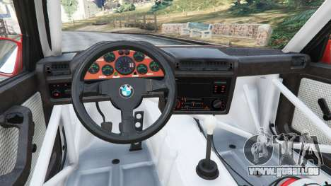 GTA 5 BMW M3 (E30) 1991 [Z5] v1.2 droite vue latérale