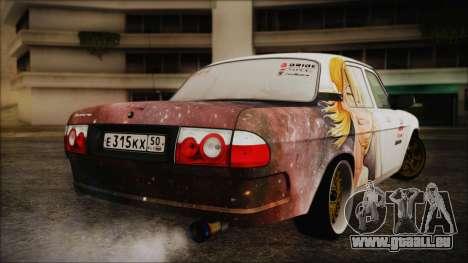 ГАЗ 31105 à la Dérive (Éternelle Summer Edition) pour GTA San Andreas sur la vue arrière gauche