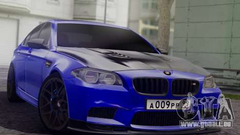 BMW M5 F10 Top Service MSK pour GTA San Andreas