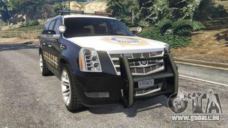 Cadillac Escalade ESV 2012 Police für GTA 5