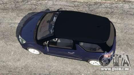 GTA 5 Citroen DS3 2011 vue arrière