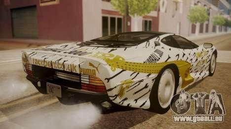 Jaguar XJ220 1992 HQLM pour GTA San Andreas roue