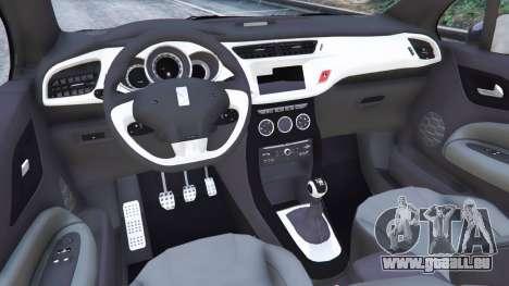 GTA 5 Citroen DS3 2011 arrière droit vue de côté