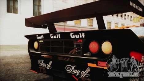 McLaren F1 GTR 1998 pour GTA San Andreas sur la vue arrière gauche
