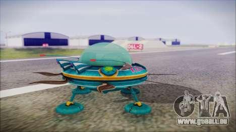 X808 UFO pour GTA San Andreas laissé vue