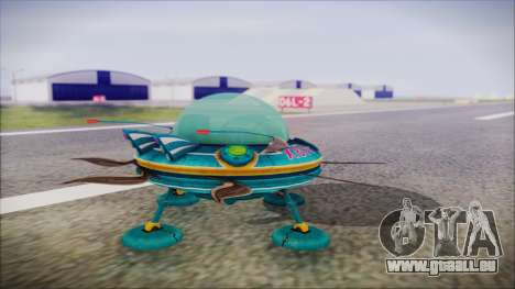 X808 UFO für GTA San Andreas linke Ansicht