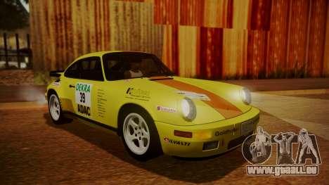 RUF CTR Yellowbird (911) 1987 HQLM pour GTA San Andreas vue de dessous