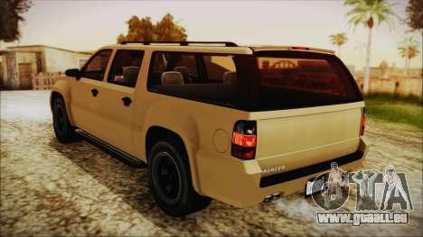 GTA 5 Declasse Granger SA Style pour GTA San Andreas sur la vue arrière gauche
