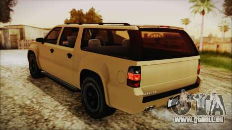 GTA 5 Declasse Granger SA Style für GTA San Andreas zurück linke Ansicht