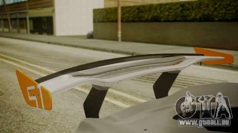 McLaren P1 GTR 2015 pour GTA San Andreas vue arrière