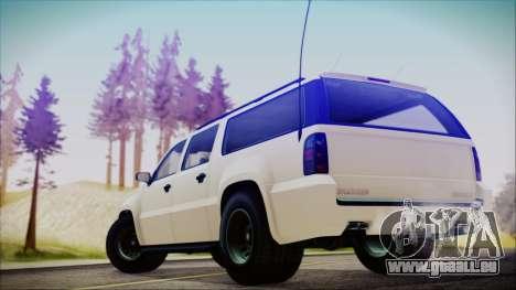 GTA 5 Declasse Granger FIB SUV für GTA San Andreas linke Ansicht