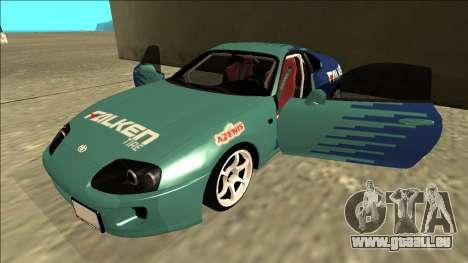 Toyota Supra Falken Drift pour GTA San Andreas vue de côté