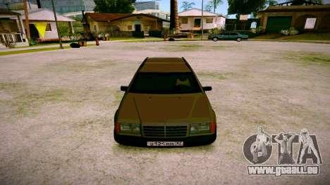 Mercedes-Benz E200 W124 pour GTA San Andreas vue arrière