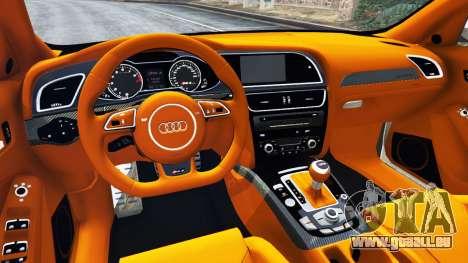 GTA 5 Audi RS4 Avant 2013 arrière droit vue de côté