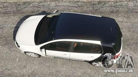 GTA 5 Volkswagen Golf Mk6 v2.0 [ABT] vue arrière