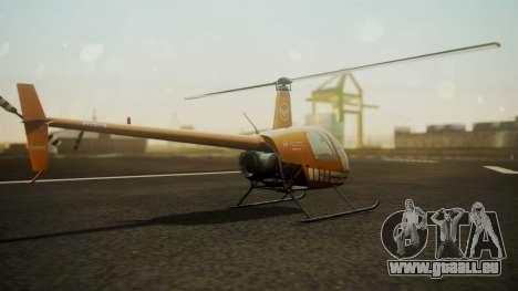 Robinson R-22 de Seguridad Vial für GTA San Andreas linke Ansicht