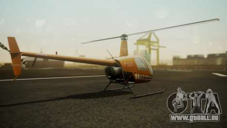 Robinson R-22 de Seguridad Vial pour GTA San Andreas laissé vue