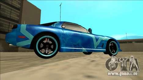 Mazda RX-7 Drift Blue Star pour GTA San Andreas vue de droite