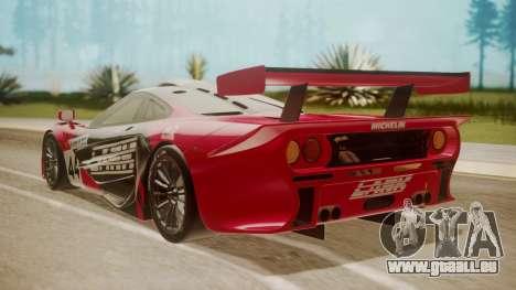 McLaren F1 GTR 1998 Team Lark pour GTA San Andreas laissé vue