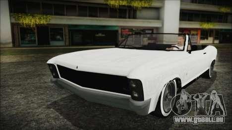 GTA 5 Albany Buccaneer Hydra Version pour GTA San Andreas vue de côté