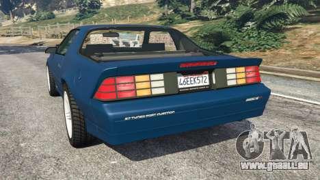GTA 5 Chevrolet Camaro IROC-Z [Beta 3] hinten links Seitenansicht