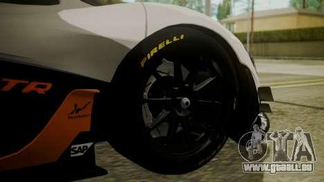 McLaren P1 GTR 2015 pour GTA San Andreas sur la vue arrière gauche