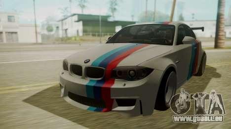 BMW 1M E82 without Sunroof pour GTA San Andreas vue intérieure