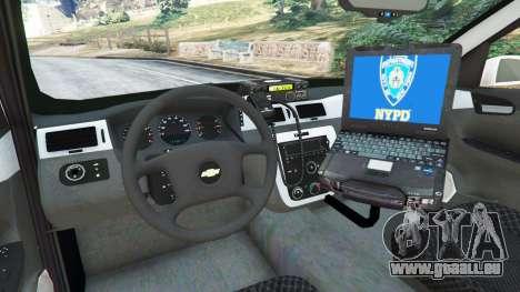 GTA 5 Chevrolet Impala NYPD hinten rechts