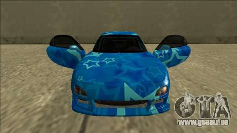Mazda RX-7 Drift Blue Star pour GTA San Andreas vue de dessus