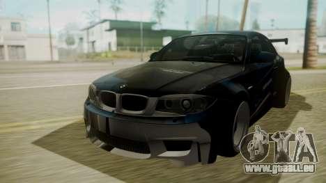 BMW 1M E82 without Sunroof pour GTA San Andreas vue de dessus