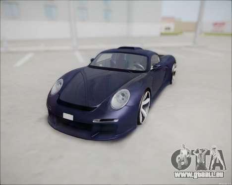 Ruf CTR 3 2015 pour GTA San Andreas vue arrière