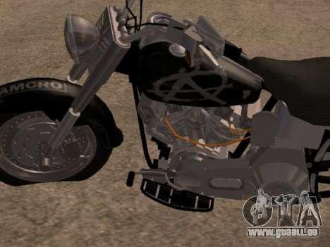 Harley Davidson Fat Boy Sons Of Anarchy pour GTA San Andreas laissé vue
