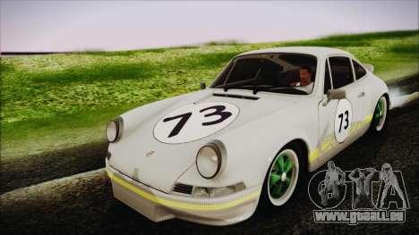 Porsche 911 Carrera RS 2.7 (901) 1973 pour GTA San Andreas vue intérieure