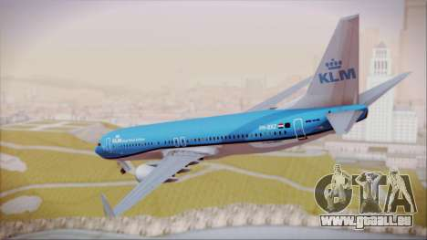 Boeing 737-800 KLM Royal Dutch Airlines für GTA San Andreas linke Ansicht