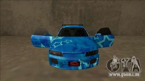 Nissan Skyline R33 Drift Blue Star pour GTA San Andreas salon