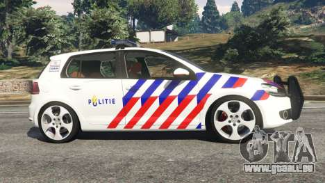 Volkswagen Golf Mk6 Dutch Police pour GTA 5