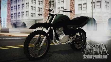 Zanella RX150 Cross pour GTA San Andreas vue arrière
