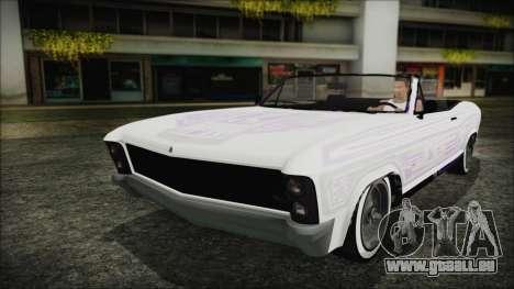 GTA 5 Albany Buccaneer Hydra Version pour GTA San Andreas vue intérieure