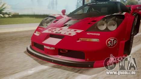 McLaren F1 GTR 1998 Team Lark pour GTA San Andreas vue intérieure