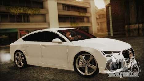 Audi RS7 Sportback 2015 für GTA San Andreas rechten Ansicht