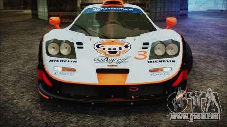 McLaren F1 GTR 1998 pour GTA San Andreas vue de dessous