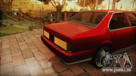 Sentinel PFR HD v1.0 pour GTA San Andreas vue arrière