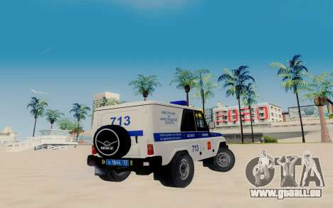 UAZ Hunter SPSP für GTA San Andreas zurück linke Ansicht