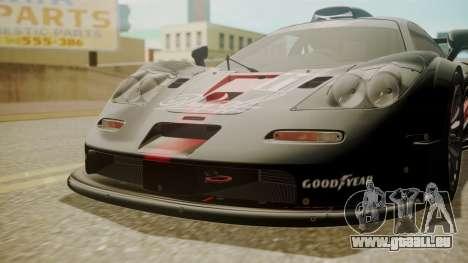 McLaren F1 GTR 1998 Day Off pour GTA San Andreas vue arrière