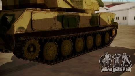 ZSU-23-4 Shilka pour GTA San Andreas sur la vue arrière gauche