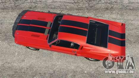 GTA 5 Shelby Mustang GT500 1967 [LowRiders] vue arrière