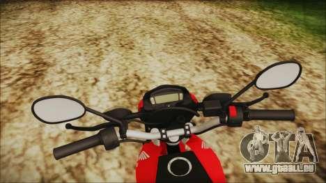 Honda Bros 160 2015 pour GTA San Andreas vue de droite