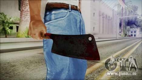 Helloween Butcher Knife Square pour GTA San Andreas troisième écran