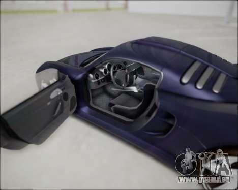 Ruf CTR 3 2015 pour GTA San Andreas vue de droite