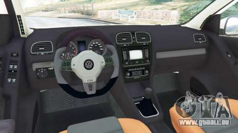 GTA 5 Volkswagen Golf Mk6 v2.0 [ABT] arrière droit vue de côté
